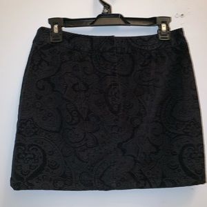 Express paisley stretch corduroy mini skirt